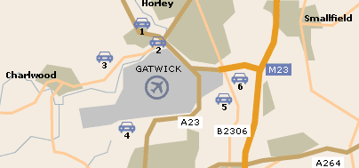Gatwick Parking Map